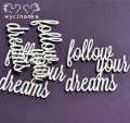 "CATCH YOUR DREAMS - inscriptions ""follow your dreams"""