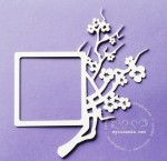 TWIG OF CHERRY BLOSSOMS - frame, pattern 6