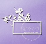 TWIG OF CHERRY BLOSSOMS - frame, pattern 2