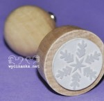 rubber stamp DECEMBER DIARY snowflake
