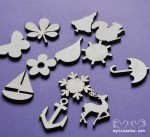 FOUR SEASONS - pictograms, plywood 3mm, 12 pcs.
