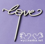 "cake topper ""love"", 3 mm plywood"