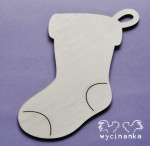 christmas sock, 3 mm plywood