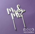 "topper na tort ""Mr & Mrs"", sklejka 3mm"