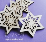 stars with ornament, plywood 3 mm