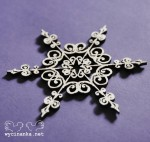 CHRISTMAS DOODLES - snowflake, pattern 2, plywood 3mm