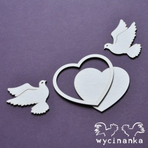 BEAUTIFUL WEDDING -  heart with pigeon