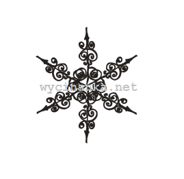 CHRISTMAS DOODLES - snowflake pattern1, rubber stamp 6,5x7,5cm