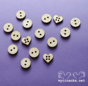 engraved buttons mix, plywood 3 mm